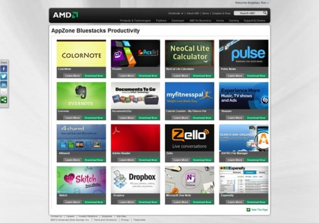 BlueStacks teams with AMD to optimize Android App Player for Fusion, Radeon chips (video)