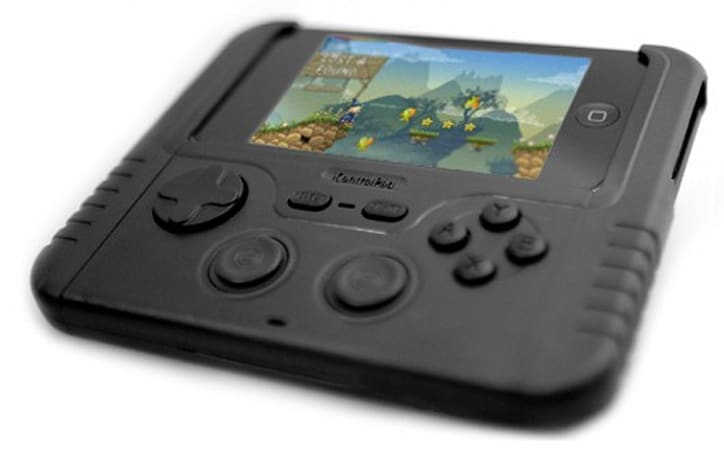 The iControlPad clamps a controller to your phone