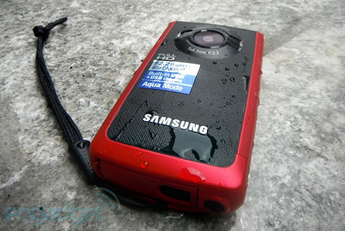 Samsung W200 waterproof / rugged 1080p camcorder review