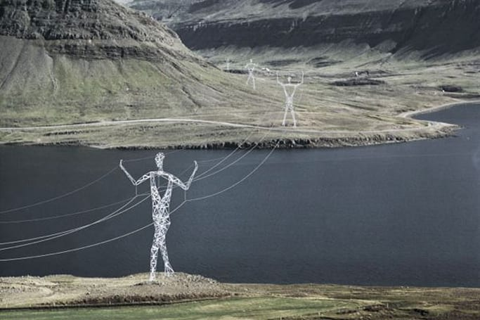 Land of Giants turns power lines into works of art