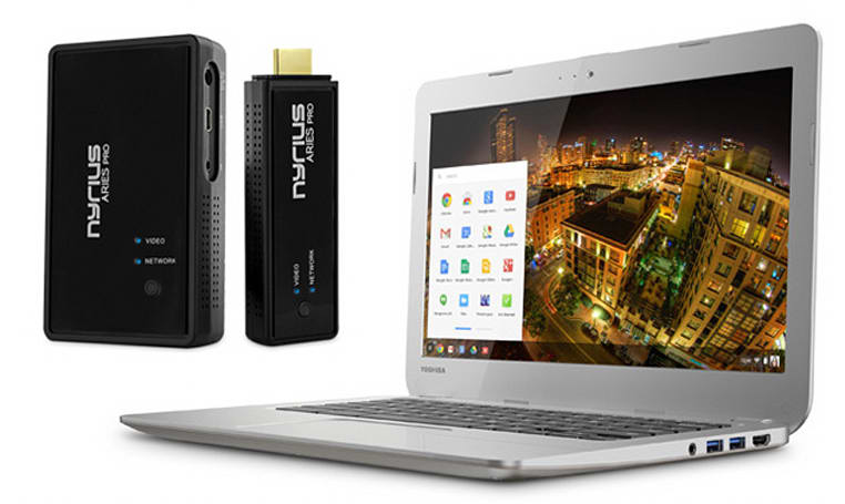 Engadget giveaway: win a Toshiba Chromebook and Aries Pro courtesy of Nyrius!