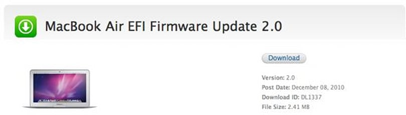 Apple announces firmware update to relieve those nagging MacBook Air display issues