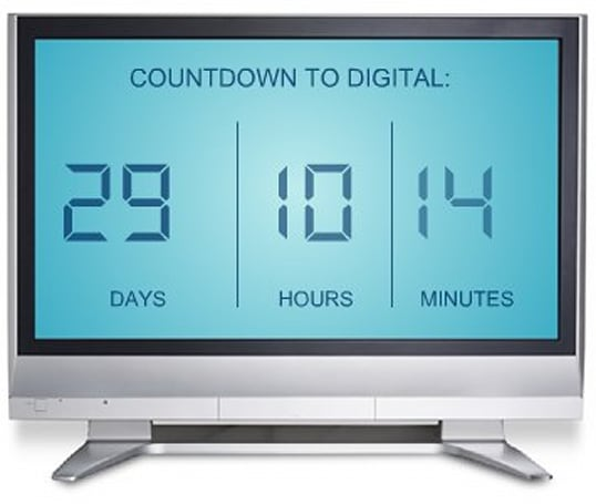 One month to analog shutoff: DTV Unreadiness drops below 3 percent