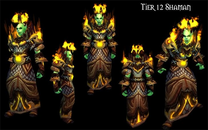 Patch 4.2: Shaman and warlock tier 12 sets revealed
