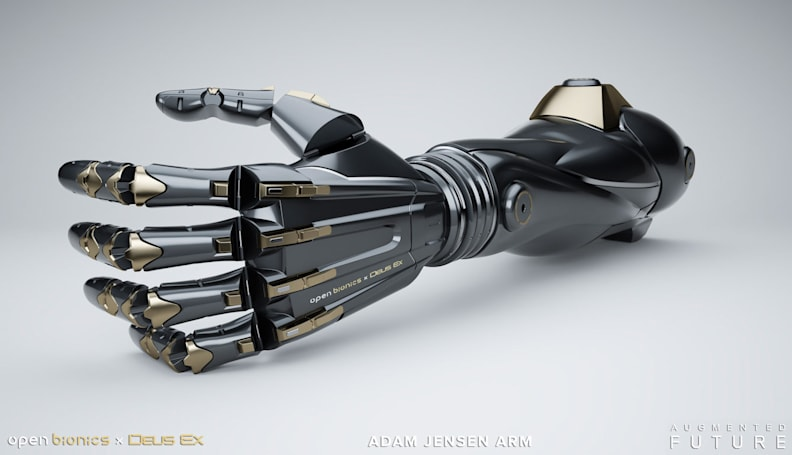 Prosthetic arms inspired by 'Deus Ex' are coming next year