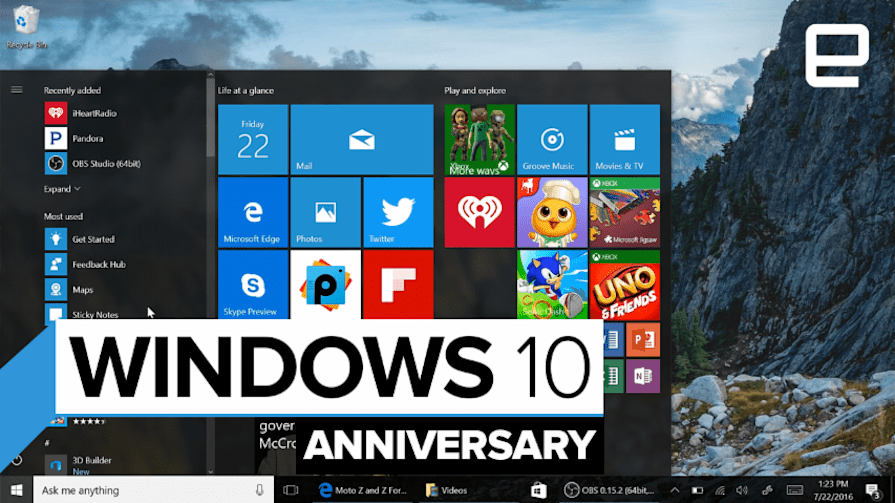 Windows 10 Anniversary Update Hands-on