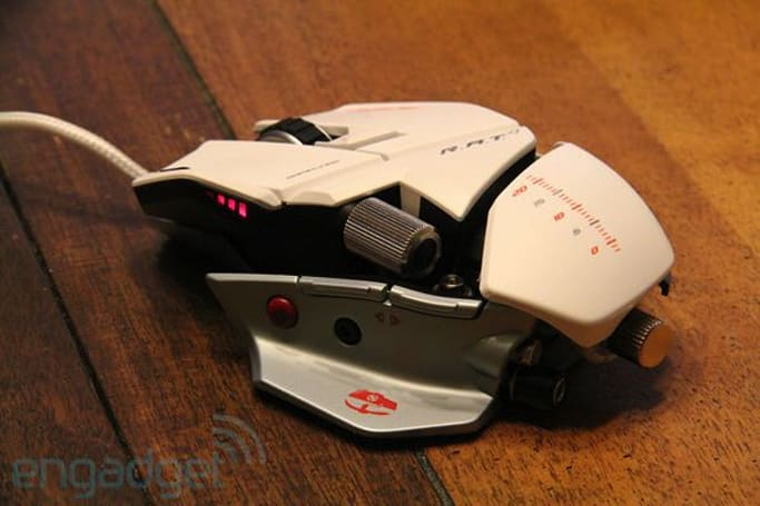 Mad Catz Cyborg Rat Albino first hands-on