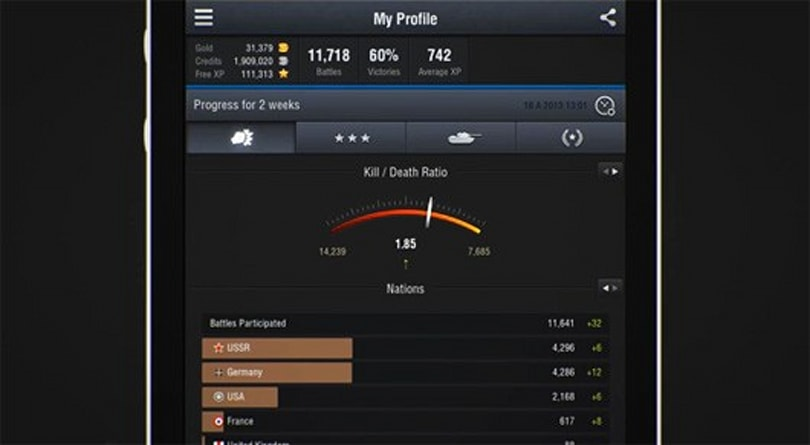 World of Tanks Assistant app adds achievements and more