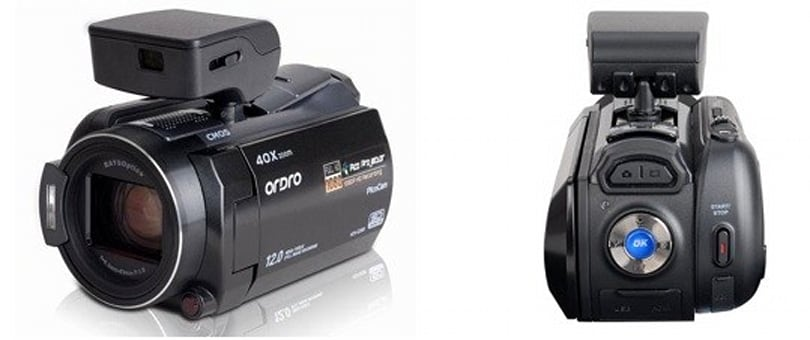 Ordro HDV-D350S camcorder packs removable pico projector