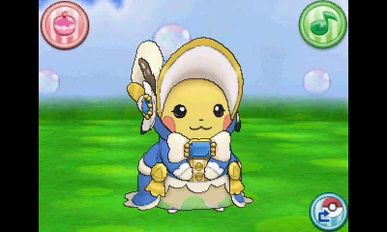 Pikachu as a southern belle in Pokemon Omega Ruby, Alpha Sapphire
