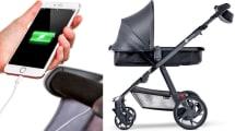 Tüchtig schieben: Kinderwagen lädt Smartphone