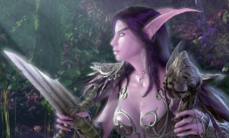 Night elf druids at the end of Cataclysm