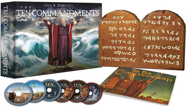 The Ten Commandments comes to Blu-ray in six or two-disc sets March 29th