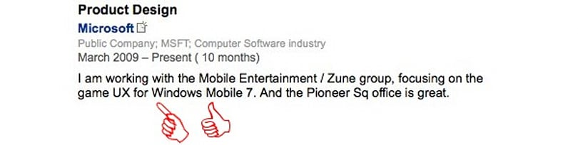 LinkedIn profiles reveal Windows Mobile 7 clues, folks with really great people skills