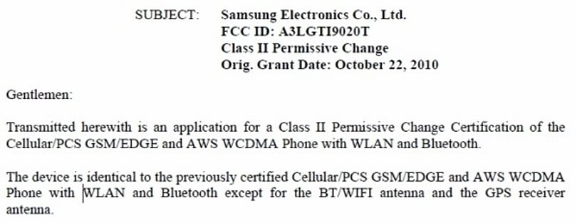 Samsung Nexus S reappears at the FCC with a pair of new antennas