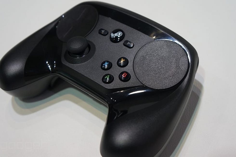 how to hold the steam controller