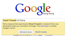 Google to flag 'censored' searches for Chinese users (video)