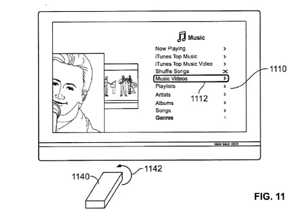 """Apple patent filing details possible """"remote wand"""" for Apple TV, again"""
