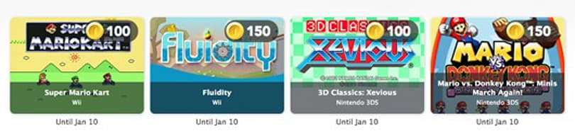 Now you can exchange Club Nintendo Coins for games