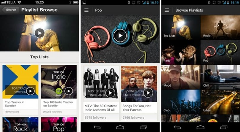 Spotify brings curated playlists to Android and iOS