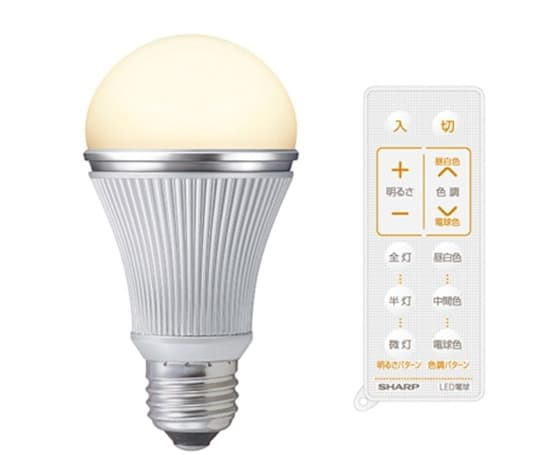 Sharp's remote controlled LED light-bulbs generate seven-shades of smart