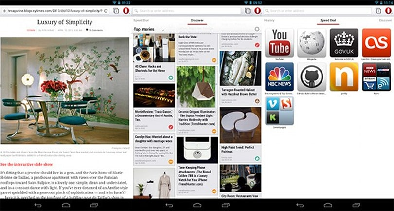 Opera for Android scores Chromium 28, snappier startups and video downloads