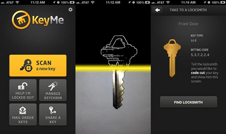 KeyMe iOS app photographs your keys and stores them in the cloud