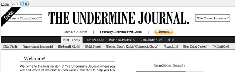 Gold Capped: The Undermine Journal may have to close down