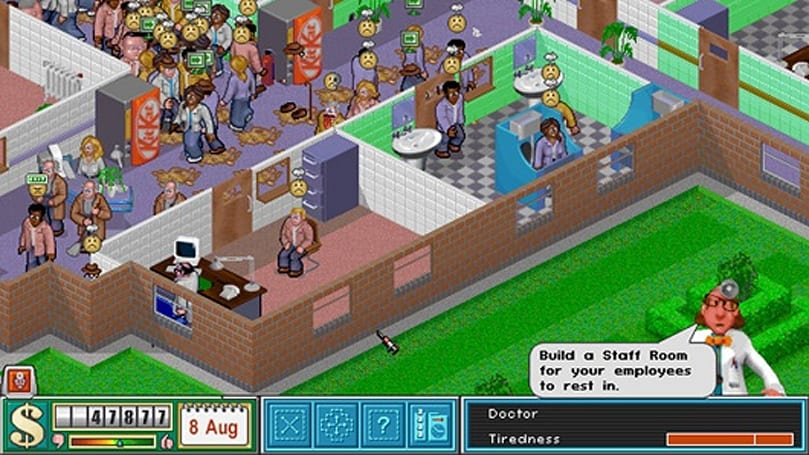 Litter-bomb warning! Theme Hospital is free on Origin