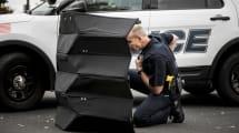 Kugelsicherer Origami-Schild: Leichter Faltschutz für Polizisten