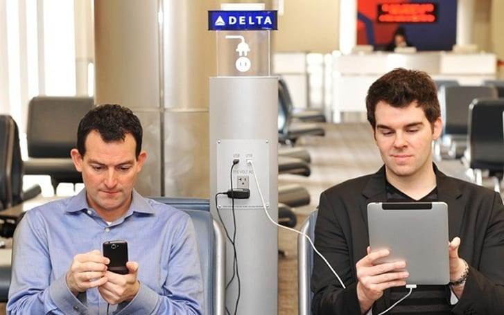 Delta Airlines to install gate-area charging stations in 19 U.S. airports