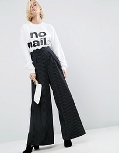 Relaxed Tailored Trouser In Pinstripe