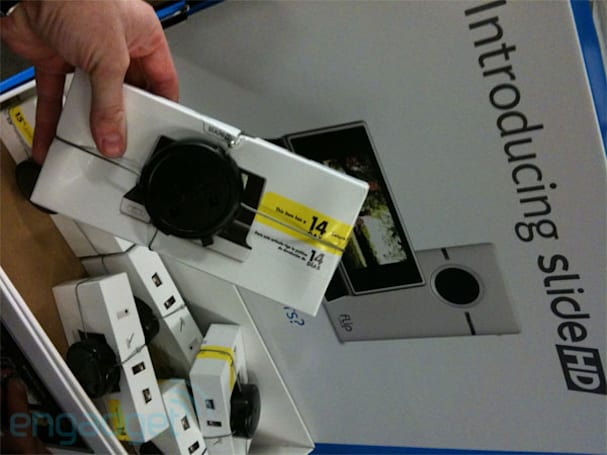 Flip Slide HD caught at Best Buy, slides into camera's view (updated)