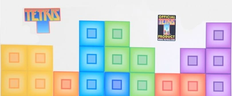 Tetris finds another platform: your wall