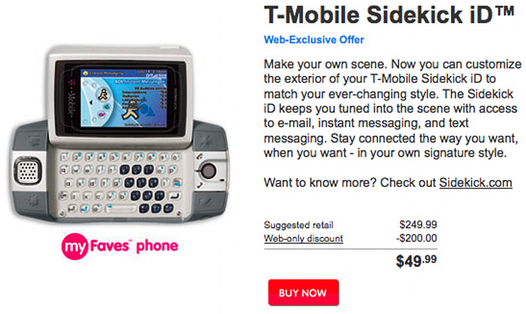 T-Mobile inexplicably revives Sidekick iD, sells for $49.99