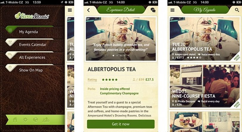 Lime & Tonic brings its luxury recommendation service to the iPhone
