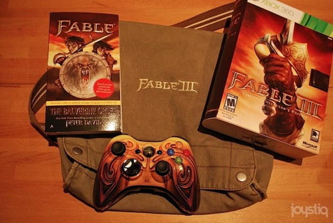 12 Days of Joyswag: Fable 3 rucksack with Collector's Edition, book, and controller