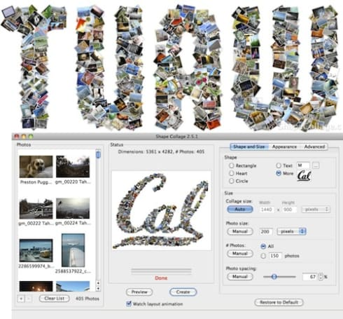 Customize your collage with Shape Collage