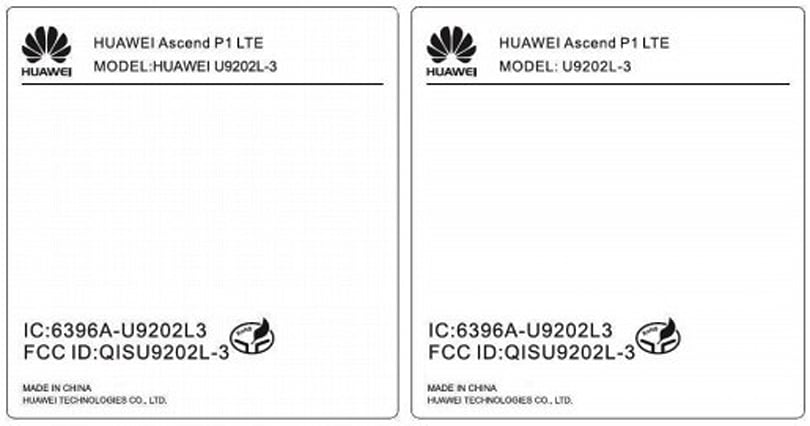 Huawei Ascend P1 LTE takes a tour through the FCC with AT&T-capable 4G and beyond