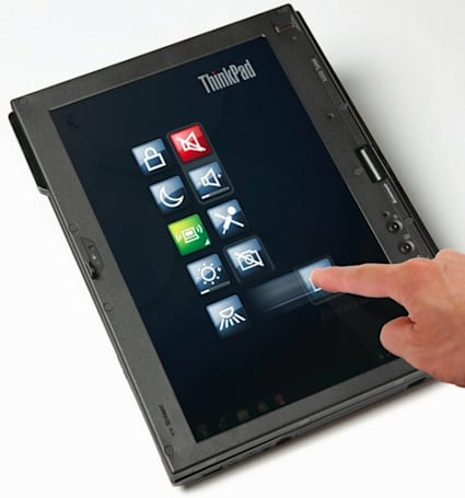 Lenovo introduces multitouch ThinkPad X200 Tablet and T400s laptop