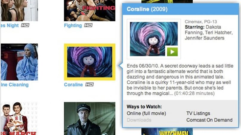Fancast redesign highlights what's streaming in HD