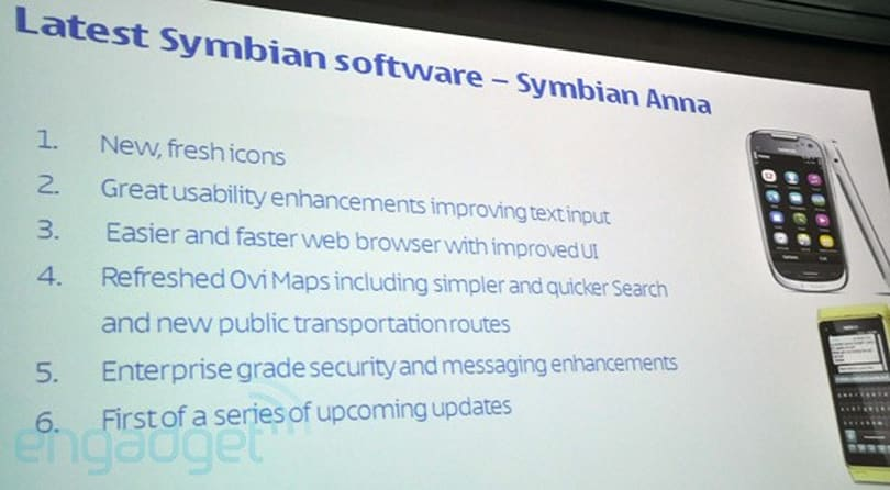 Nokia announces Symbian 'Anna' update for N8, E7, C7 and C6-01; first of a series of updates (video)