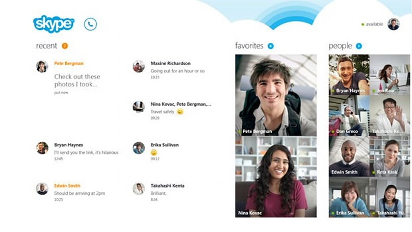Microsoft announces Skype for Windows 8: full-screen calls, push notifications and People Hub integration