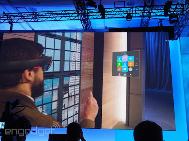Microsoft shows off Windows Holographic running Windows 10 apps