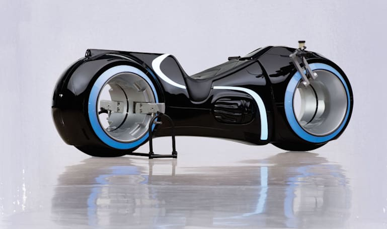 Someone just bought this 'Tron' lightcycle for $77,000