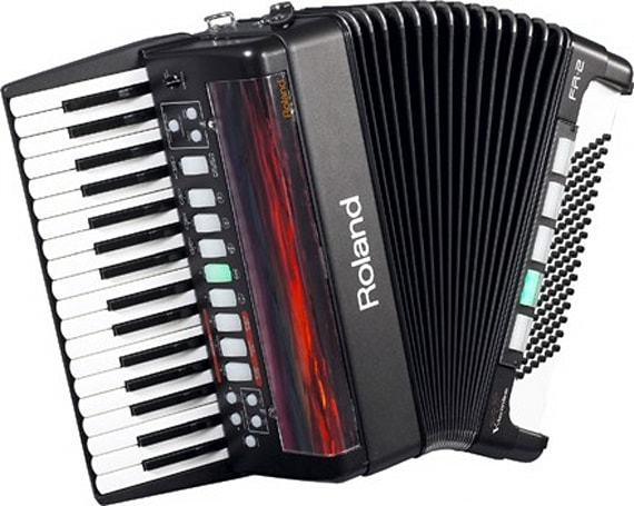 Roland's FR-2 accordion, now with extra polka
