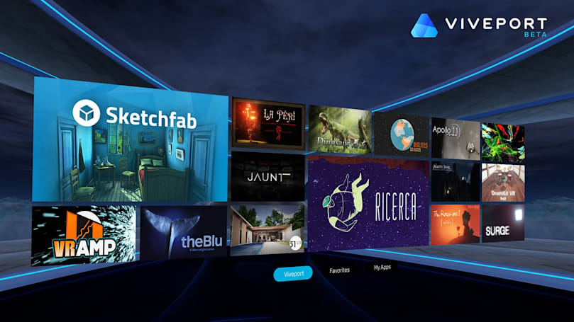 HTC's Viveport is an app store for VR experiences