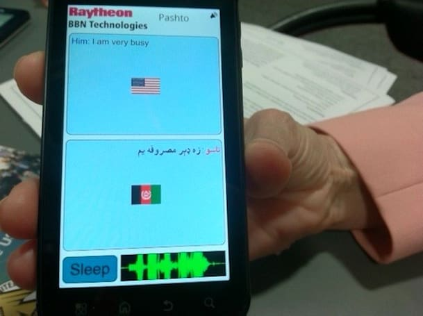 Raytheon shows off TransTalk speech translator for Android, hopes to find a home in the Army's app store