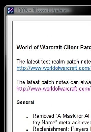World of Warcraft 3.0.3 Patch notes