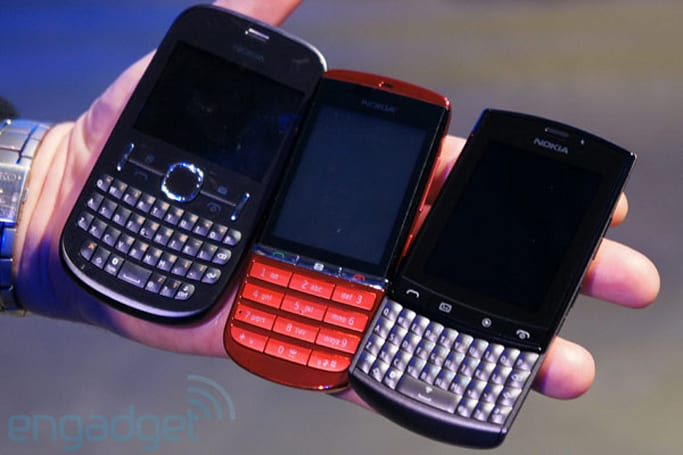 Nokia Asha 200, Asha 300 and Asha 303 hands-on (video)
